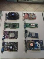 """STOCK 8 SCHEDE VIDEO PCI/AGP ATI/NVIDIA """"DA TESTARE""""!!!"""