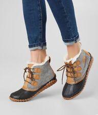 Sorel Out N About Plus Quarry Felt Textile Waterproof Boots Rain Size 6 Bootie