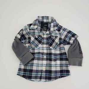 Hurley Plaid Checkered Print Long Shirt