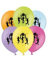 """Disco - 12"""" Printed Latex Balloons Assorted pack of 25 - Dance Party Time"""