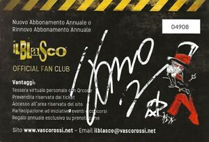 VASCO ROSSI Card  BLASCO Autografata!