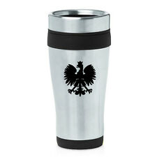 Stainless Steel Insulated 16oz Travel Mug Coffee Cup Poland Polish Eagle