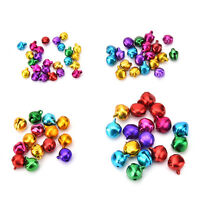 100X/Set Small Jingle Bells Colorful Loose Beads Decoration Pendant DIY Craft_ti