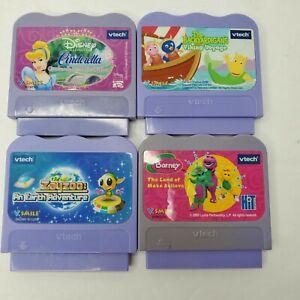 Vtech VSmile 4 Games- Disney Cinderella, Barney, Zayzoo, Backyardigans