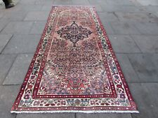 Vintage Hand Made Traditional Rug Oriental Rug Wool Pink Large Rug 313x130cm