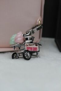 Authentic JUICY COUTURE Cotton Candy Cart Machine Charm Clip On Gold New In Box