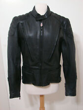 HEIN GERICKE Motorcycle Jacket First Gear Black Leather Padded Double Lined 40