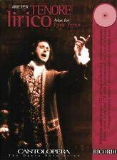 Arias for Lyric Tenor Cantolopera Series Book CD Pack Vocal Collection 050486845