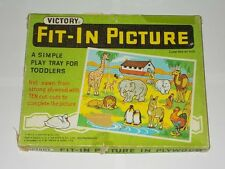 Victory Plywood Fit-In Picture Play Tray For Toddlers. Vintage Games No. 7454