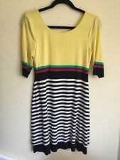 "B44 BY BAILEY 44 Multicolor Striped ""Duck Dive' Scoop Neck Dress - Size M NWT"