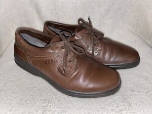 ECCO  SOFT  BROWN LEATHER CASUAL SHOES  SIZE UK 8  EUR 42