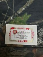 Antique 1912 John Winsch Valentines Day Post Card Embossed Gilded