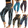 Women Ladies Casual Hippy Yoga Trousers Baggy Boho Loose Harem Pants Beach Pants