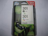 VALUE  HP ORIGINAL OVP  HP301  Black + Color DESKJET 3000 30500 DJ-3055 N9J72AE