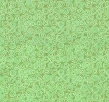 Fabric Baby Swirls Green on Green Flannel by the 1/4 yard BIN