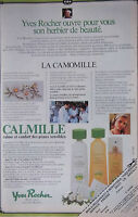 PUBLICITÉ DE PRESSE 1979 CALMILLE YVES ROCHER A LA CAMOMILLE - ADVERTISING