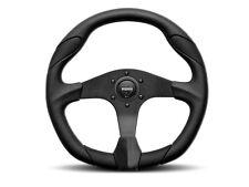 Momo Quark 350mm Tuning Racing Steering Wheel Black Poly Urethane