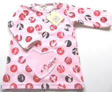 Nicki Tunika Kleid Gr.80 Claire NEU m.E Herz Dots rosa velour baby winter