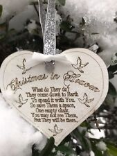 White Christmas In Heaven Heart Love Poem Tree Decoration Lost Love one