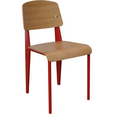4 Pack Jean Prouve Standard Chair Dining Kitchen Restaurant Red - VIC