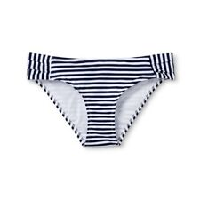 NWT Vineyard Vines Target Women's Striped Bikini Swim Bottom NAVY & WHITE - XS