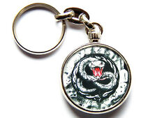 More details for white snake classic rock band chrome keyring picture both sides