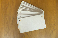10 x Wooden MDF plaques signs blank rectangles 160mm x 85mm x 3mm (rc)