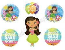 HULA GIRL BEACH Birthday Party Balloons Decoration Supplies Ocean Luau BBQ Pool