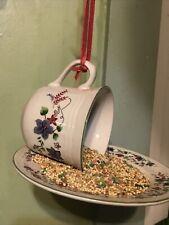 Tea Cup Bird Feeder, Garden Decor