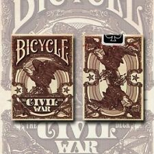 CIVIL WAR RED BICYCLE DECK OF PLAYING CARDS BY J ROBINSON & USPCC MAGIC TRICKS