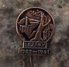 1961 Lezaky & Lidice World War 2 WW2 Nazi Massacre Remebrance Pin Badge