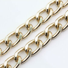 Lot Of 1M Gold/Silver Plated Link Cable Open Aluminum Bulk Chain 16x11x3mm
