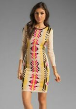 Alice By Temperley Tribal Bandage Knitted Bodycon Jumper Dress XS UK 8 - 10 £345