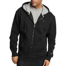 ef6289826869 Champion Men s PowerBlend Fleece Full Zip Jacket S0891 Black 3xl