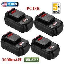 4X 3.0Ah 18V For Porter Cable PC18B Replace Battery PCC489N PCMVC PC18BL PC18BLX