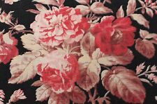 French Antique c.1880 Country French Rose Home Dec Cotton Fabric Textile