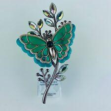 Bath & Body Works Green Fall Butterfly Gems Wallflowers Fragrance Diffuser Plug