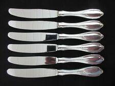 WMF Englische Rose 90 Silber 6 Menümesser 22,5 cm 6 Teile Tafelmesser Messer
