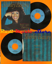 LP 45 7'' SHIRLEY BASSEY That's right Memory D.I.P. DIP 1984.1 cd mc dvd