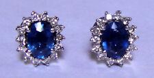 jem: BLUE SAPPHIRE  DIAMOND LIGID EARRINGS - WOW!