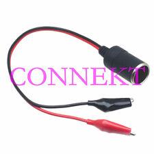 Car Cigarette Lighter Socket to 44mm Alligator Clip 18AWG Charger cable