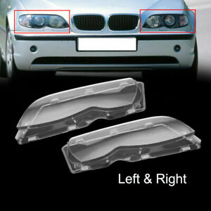 PAIR For BMW 2002 2003 2004 2005 E46 325i 325Xi 330i 330Xi Headlight Lens