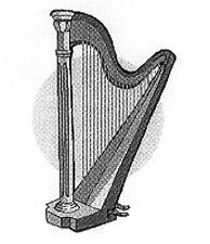 Aufkleber Harfe Zupfinstrumente Musik Noten