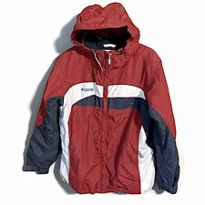 Columbia IJacket Coat Lg Men's Maroon Black 22 Windbreaker