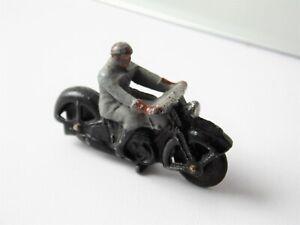 VINTAGE LEAD MOTORCYCLIST ON MOTORBIKE MODEL