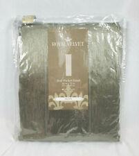 "Royal Velvet Evening Sage Hilton Rod-Pocket Curtain Panel, 54""x72"""
