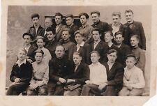1940s Handsome young men boys teens single sex class School Russian Soviet photo