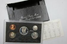 1994 S US Mint SILVER Proof Set 5-Coin Set in OGP Box w/ COA - Free Shipping