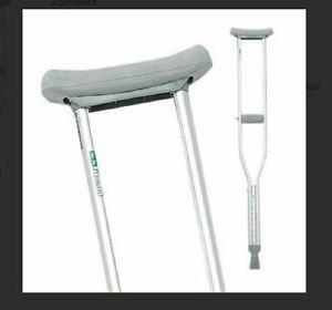 """Youth-Short Aluminum Crutches Invacare Pro Basics 1055YB 4'6""""-5'2"""" Case of 5"""