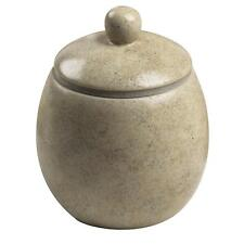 Cannon Covered Faux Stone Jar Beige